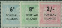 TOK SG6-8 Postal fiscals set of 3